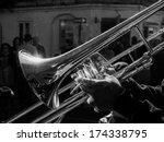 musician playing jazz trombone... | Shutterstock . vector #174338795