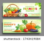 promotional banners for farmers ... | Shutterstock .eps vector #1743419084