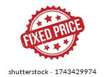 fixed price rubber stamp. red...   Shutterstock .eps vector #1743429974