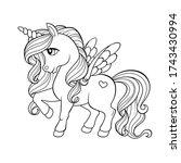 cute cartoon pegasus. pony...   Shutterstock .eps vector #1743430994