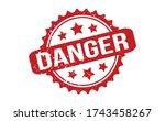 danger rubber stamp. red danger ... | Shutterstock .eps vector #1743458267