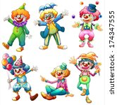 amusement,background,balloons,balls,boys,carnival,cartoon,clown,colorful,comedian,costume,drawing,entertainer,eyeglass,female