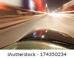 car on the road with motion... | Shutterstock . vector #174350234
