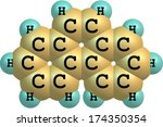 phenanthrene is a polycyclic... | Shutterstock . vector #174350354