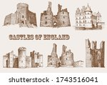 graphical vintage set of... | Shutterstock .eps vector #1743516041