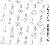 red onion seamless pattern.... | Shutterstock .eps vector #1743522434