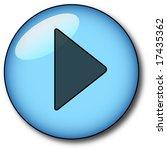 blue glass play button | Shutterstock .eps vector #17435362