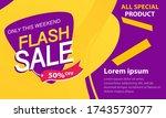 flash sale discount banner...   Shutterstock .eps vector #1743573077