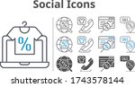 social icon set included online ...