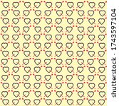 modern style cupid hearts... | Shutterstock .eps vector #1743597104