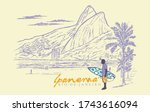 Vector Illustration Of Ipanema...