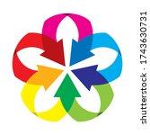 star shaped logo for companies... | Shutterstock .eps vector #1743630731
