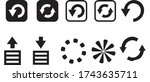 simple set of download and... | Shutterstock .eps vector #1743635711