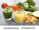 smoothie with fruit and... | Shutterstock . vector #174364115