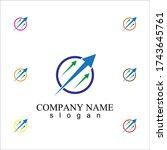 creative business logo template ... | Shutterstock .eps vector #1743645761