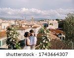 Interracial Wedding Couple. A...