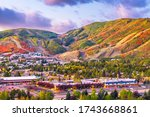 Park City  Utah  Usa Downtown...