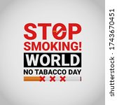 world no tabacco day  may 31....   Shutterstock .eps vector #1743670451