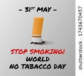 world no tabacco day  may 31....   Shutterstock .eps vector #1743670457