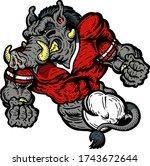muscular razorback football...   Shutterstock .eps vector #1743672644