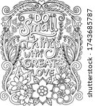 do small things with great love ... | Shutterstock .eps vector #1743685787