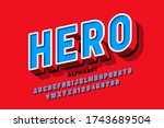 comics superhero style font ... | Shutterstock .eps vector #1743689504