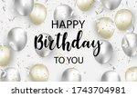 happy birthday celebration...   Shutterstock .eps vector #1743704981