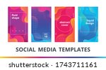 set of instagram stories frame... | Shutterstock .eps vector #1743711161