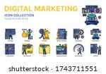 digital marketing icon set ...