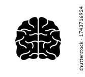 human brain icons. thinking... | Shutterstock .eps vector #1743716924
