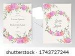 editable wedding invitation... | Shutterstock .eps vector #1743727244