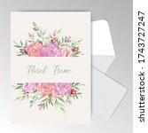 editable wedding invitation... | Shutterstock .eps vector #1743727247