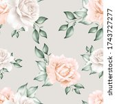 beautiful seamless pattern with ... | Shutterstock .eps vector #1743727277