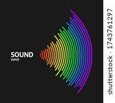 circle sound wave rhythm....   Shutterstock .eps vector #1743761297
