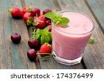 healthy organic food.... | Shutterstock . vector #174376499