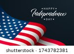 happy independence day greeting ... | Shutterstock .eps vector #1743782381
