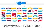 multicolored ribbons set.... | Shutterstock .eps vector #1743782384