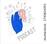 logo for podcast radio... | Shutterstock .eps vector #1743814391
