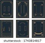 illustration of japanese frame... | Shutterstock .eps vector #1743814817