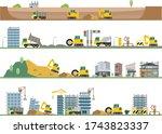 construction site illustration...   Shutterstock .eps vector #1743823337