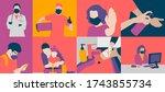 coronavirus or covid 19... | Shutterstock . vector #1743855734