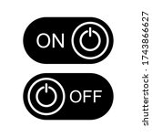 on off button icon vector...