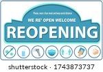 reopening text and practical... | Shutterstock .eps vector #1743873737