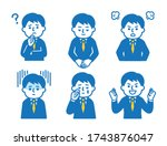 6 different pose sets for suit... | Shutterstock .eps vector #1743876047