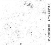 grunge black and white pattern... | Shutterstock .eps vector #1743885464