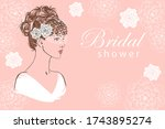 hand drawn head of a women in... | Shutterstock .eps vector #1743895274