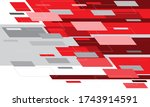 abstract red grey white motion...   Shutterstock .eps vector #1743914591