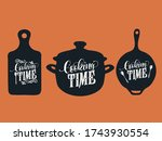 cooking time typography vector... | Shutterstock .eps vector #1743930554