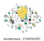 concept of generating a great... | Shutterstock .eps vector #1743931907