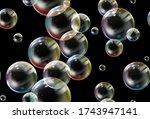 soap bubbles seamless pattern.... | Shutterstock .eps vector #1743947141